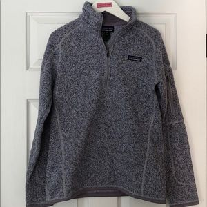 Purple and Grey Patagonia Better Sweater 1/4 Zip